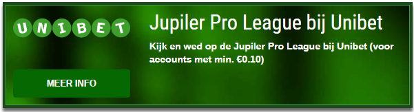 Jupiler Pro League, kijk en wed bij Unibet!
